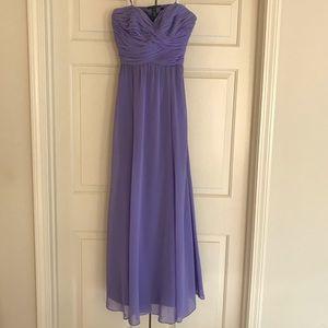 Ralph Lauren Lavender Sheered Top Long Gown